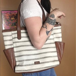 FOSSIL / Tote Purse with side pockets